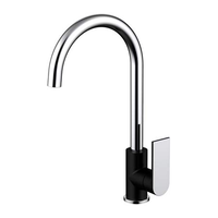 Millennium Kiato Sink Mixer - Matte Black & Chrome