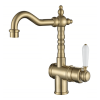 Modern Nataion Bordeaux High Rise Basin Mixer - Brushed Bronze