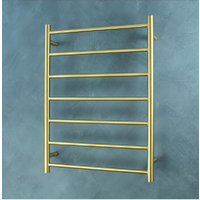 Radiant RTR01 Round 7 Rung Heated Towel Ladder - Brushed Gold