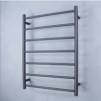 Radiant RTR01 Round 7 Rung Heated Towel Ladder - Gun Metal
