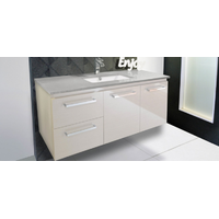 A.D.P Glacier Quartz Twin 1200mm Wall Hung Vanity