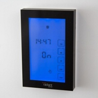 Radiant Black Premium Touchscreen Digital Timer Switch - Vertical Orientation