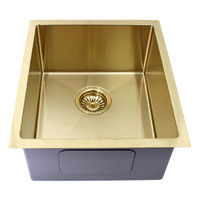 Modern National Handmade Single Bowl Sink 440 x 380mm - Light Gold