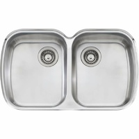 Oliveri MO70U Monet Double Bowl Undermount Sink