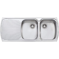 Oliveri MO772 Monet Double Bowl With Single Drainer Topmount Sink