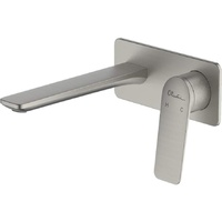 Oliveri Paris Wall Basin Mixer - Brushed Nickel