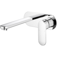 P & P Cora Wall Basin Mixer with Spout - Chrome