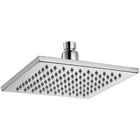 Eden Square Brass 200mm Shower Head - Chrome