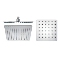 P & P Nova Square Stainless Steel 300mm Shower Head - Chrome