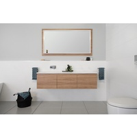 A.D.P Snow 1500mm Double Bowl Wall Hung Vanity