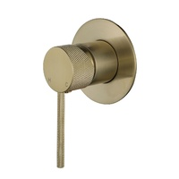 Modern National Knurled Wall Mixer - Brushed Bronze