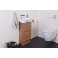 A.D.P Tiny Semi-Recessed Vanity on Kick