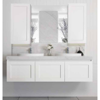 A.D.P London 1500mm Double Bowl Wall Hung Vanity