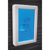 Radiant White Touchscreen Digital Timer Switch - Vertical Orientation