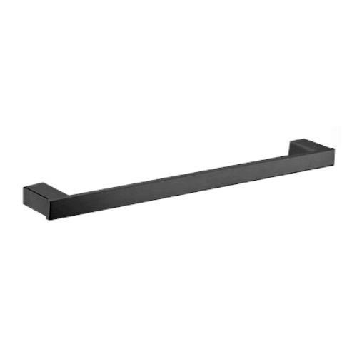 Rosa 750mm Single Towel Rail - Matte Black
