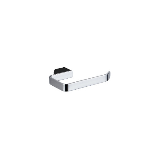 Zoya Toilet Roll Holder - Chrome & Matte Black