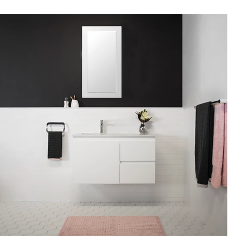 A.D.P Glacier Quartz Twin 900mm Wall Hung Vanity