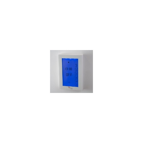 Radiant White Premium Touchscreen Dual Digital Timer Switch - Vertical Orientation