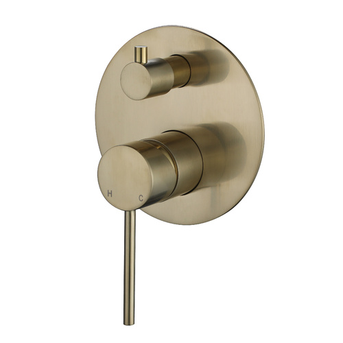 Modern National Star Mini Divertor Wall Mixer - Brushed Bronze